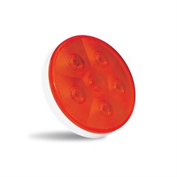 "ATLAS 4"" Stop, turn & tail LED lamp RED 6 square LED DOT Certification"