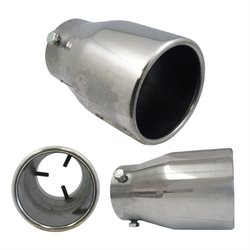 "Stainless Steel Exhaust Tip 6.25"" X 2.5'' X 3.875""Round Straight"