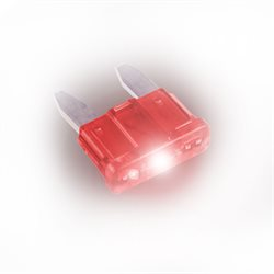 10 ATLAS Red MINI Blade Fuses with LED 10A
